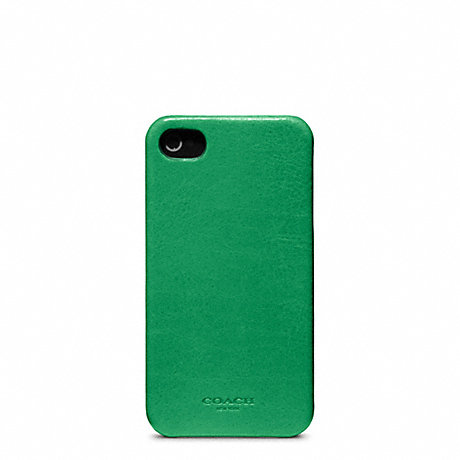 COACH f63734 BLEECKER LEATHER MOLDED IPHONE 4 CASE CLOVER