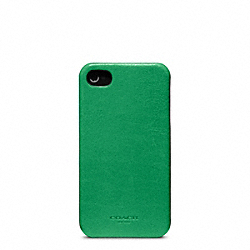 COACH BLEECKER LEATHER MOLDED IPHONE 4 CASE - CLOVER - F63734