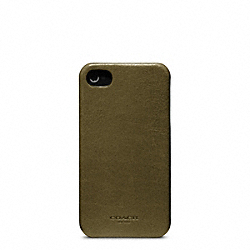 BLEECKER LEATHER MOLDED IPHONE 4 CASE - f63734 - DARK OLIVE
