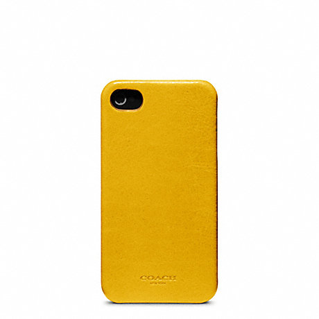 COACH BLEECKER LEATHER MOLDED IPHONE 4 CASE -  - f63734