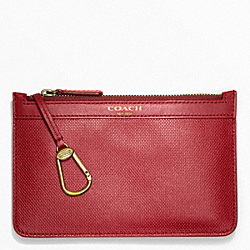 COACH BLEECKER EMBOSSED TEXTURED LEATHER CHINESE NEW YEAR KEYCASE ENVELOPE - ONE COLOR - F63735