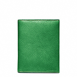 BLEECKER PEBBLED LEATHER PASSPORT CASE - f63736 - 28057