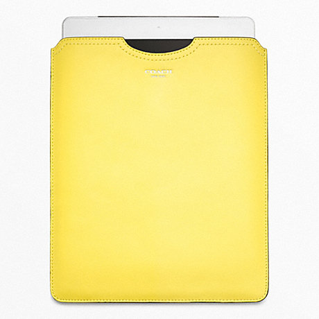 COACH LEATHER IPAD SLIP COVER -  - f63801