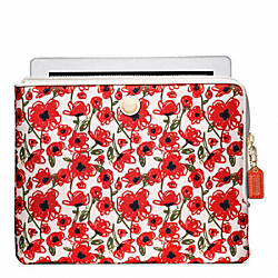 COACH POPPY FLORAL PRINT IPAD L ZIP SLEEVE - ONE COLOR - F63859