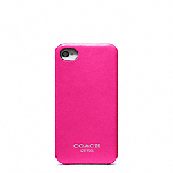 COACH LEATHER MOLDED IPHONE 4 CASE - FUCHSIA - F63897