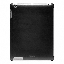 COACH BLEECKER LEATHER MOLDED IPAD CASE - BLACK - F63898