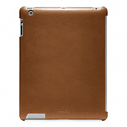 COACH BLEECKER LEATHER MOLDED IPAD CASE - FAWN - F63898