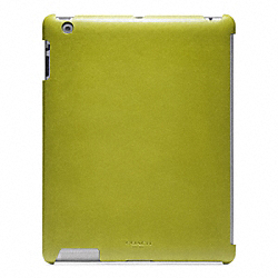 COACH BLEECKER LEATHER MOLDED IPAD CASE - LIME - F63898