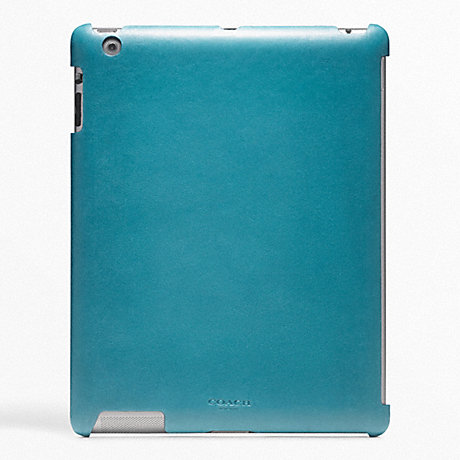 COACH BLEECKER LEATHER MOLDED IPAD CASE -  - f63898