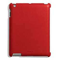 COACH BLEECKER LEATHER MOLDED IPAD CASE - TOMATO - F63898