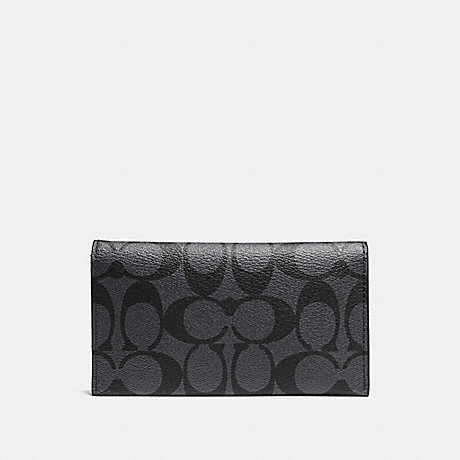 COACH UNIVERSAL PHONE CASE IN SIGNATURE - CHARCOAL/BLACK - f63972