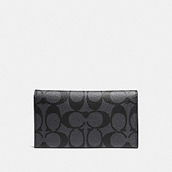 UNIVERSAL PHONE CASE IN SIGNATURE CANVAS - CHARCOAL/BLACK - COACH F63972