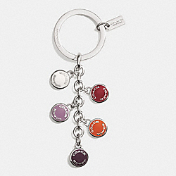 COACH COACH BUTTONS MULTI MIX KEY RING - SILVER/CHALK/LILAC - F63982