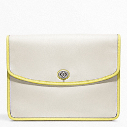 COACH ARCHIVE TWO TONE UNIVERSAL CLUTCH - SILVER/PARCHMENT/CITRINE - F64036