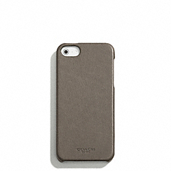 BLEECKER LEATHER MOLDED IPHONE 5 CASE - SHARKSKIN - COACH F64076