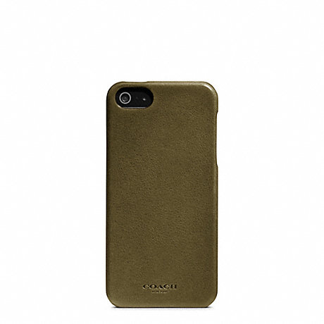 COACH BLEECKER LEATHER MOLDED IPHONE 5 CASE -  - f64076