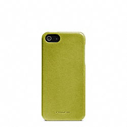 COACH BLEECKER LEATHER MOLDED IPHONE 5 CASE - LIME - F64076
