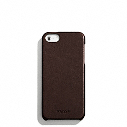 COACH BLEECKER LEATHER MOLDED IPHONE 5 CASE - MAHOGANY - F64076