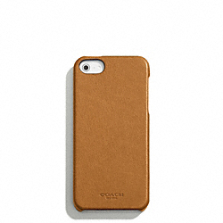COACH BLEECKER LEATHER MOLDED IPHONE 5 CASE - NATURAL - F64076