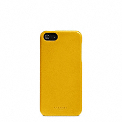 COACH BLEECKER LEATHER MOLDED IPHONE 5 CASE - SQUASH - F64076