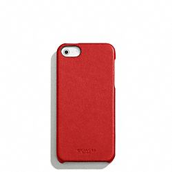COACH BLEECKER LEATHER MOLDED IPHONE 5 CASE - TOMATO - F64076