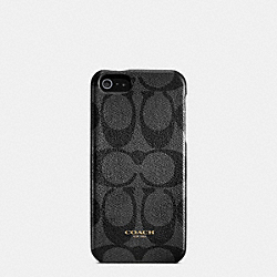 COACH BLEECKER SIGNATURE MOLDED IPHONE 5 CASE - BLACK/CHARCOAL - F64096