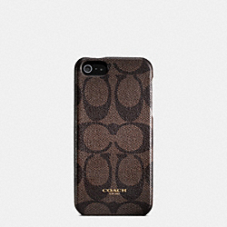COACH BLEECKER SIGNATURE MOLDED IPHONE 5 CASE - MAHOGANY/BROWN - F64096
