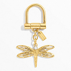 DRAGONFLY KEY RING COACH F64136