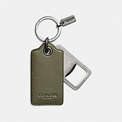 COACH BOTTLE OPENER KEY RING - SURPLUS - F64140
