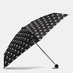 BRAMBLE ROSE PRINT MINI UMBRELLA - SILVER/BLUE MULTICOLOR - COACH F64149
