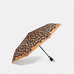 OCELOT PRINT UMBRELLA - SILVER/NEUTRAL - COACH F64150