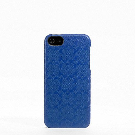 COACH HERITAGE SIGNATURE IPHONE 5 CASE - BLUE - f64218
