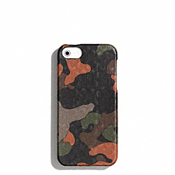 COACH HERITAGE SIGNATURE IPHONE 5 CASE - FATIGUE/ORANGE CAMO - F64218