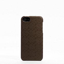 COACH HERITAGE SIGNATURE IPHONE 5 CASE - MAHOGANY - F64218
