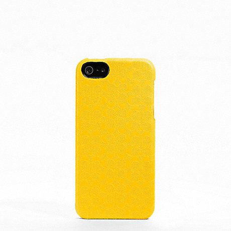 COACH HERITAGE SIGNATURE IPHONE 5 CASE - YELLOW - f64218