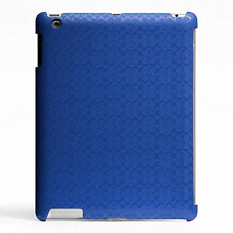 COACH HERITAGE SIGNATURE IPAD CASE - BLUE - f64219