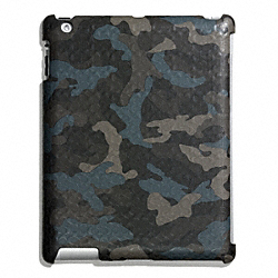 COACH HERITAGE SIGNATURE IPAD CASE - GREY/STORM BLUE - F64219