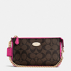 COACH LARGE WRISTLET 19 IN SIGNATURE - IME9T - F64234