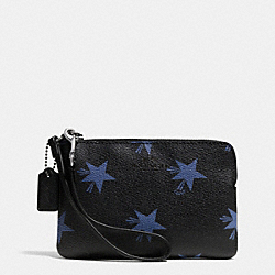 COACH CORNER ZIP WRISTLET IN STAR CANYON PRINT COATED CANVAS - QB/BLUE MULTICOLOR - F64239