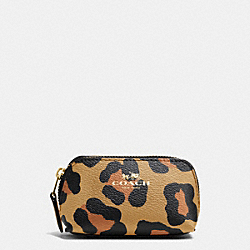 COACH COSMETIC CASE 9 IN OCELOT PRINT HAIRCALF - IMITATION GOLD/NEUTRAL - F64243