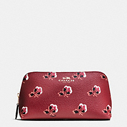 COSMETIC CASE 17 IN BRAMBLE ROSE COATED CANVAS - IMBYM - COACH F64247