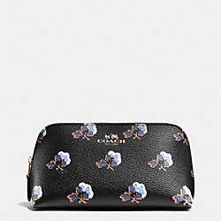 COSMETIC CASE 17 IN BRAMBLE ROSE COATED CANVAS - IME2C - COACH F64247