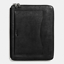 COACH TECH CASE IN PEBBLE LEATHER - BLACK - F64264