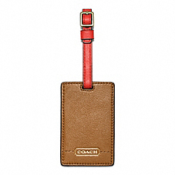 PARK LEATHER LUGGAGE TAG COACH F64441
