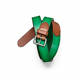 TURNBACK AND BILLET BELT - CLOVER - COACH F64463