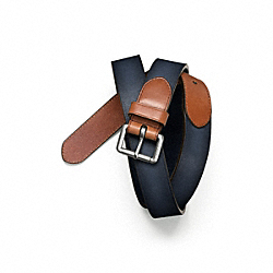 TURNBACK AND BILLET BELT - NAVY - COACH F64463