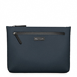 BLEECKER WATER RESISTANT BEACH POUCH - NAVY - COACH F64469