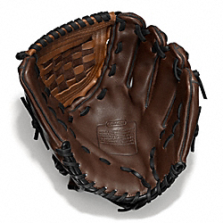 HERITAGE BASEBALL LEATHER COLORBLOCKED GLOVE COACH F64496