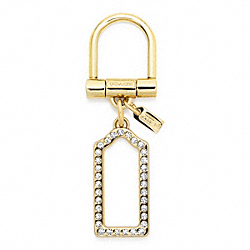 PAVE LOZENGE KEY RING COACH F64504