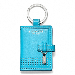 COACH PERFORATED PICTURE FRAME KEY RING - ONE COLOR - F64524